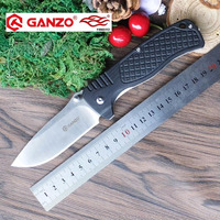 58 60HRC Ganzo G722 440C Blade G10 Handle Folding Knife Survival Camping Tool Hunting Pocket Knife