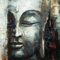 Skillful Artist Handmade Abstract Portrait of Buddha Oil Painting on Canvas Modern Buddha Art Painting Picture for Living Room