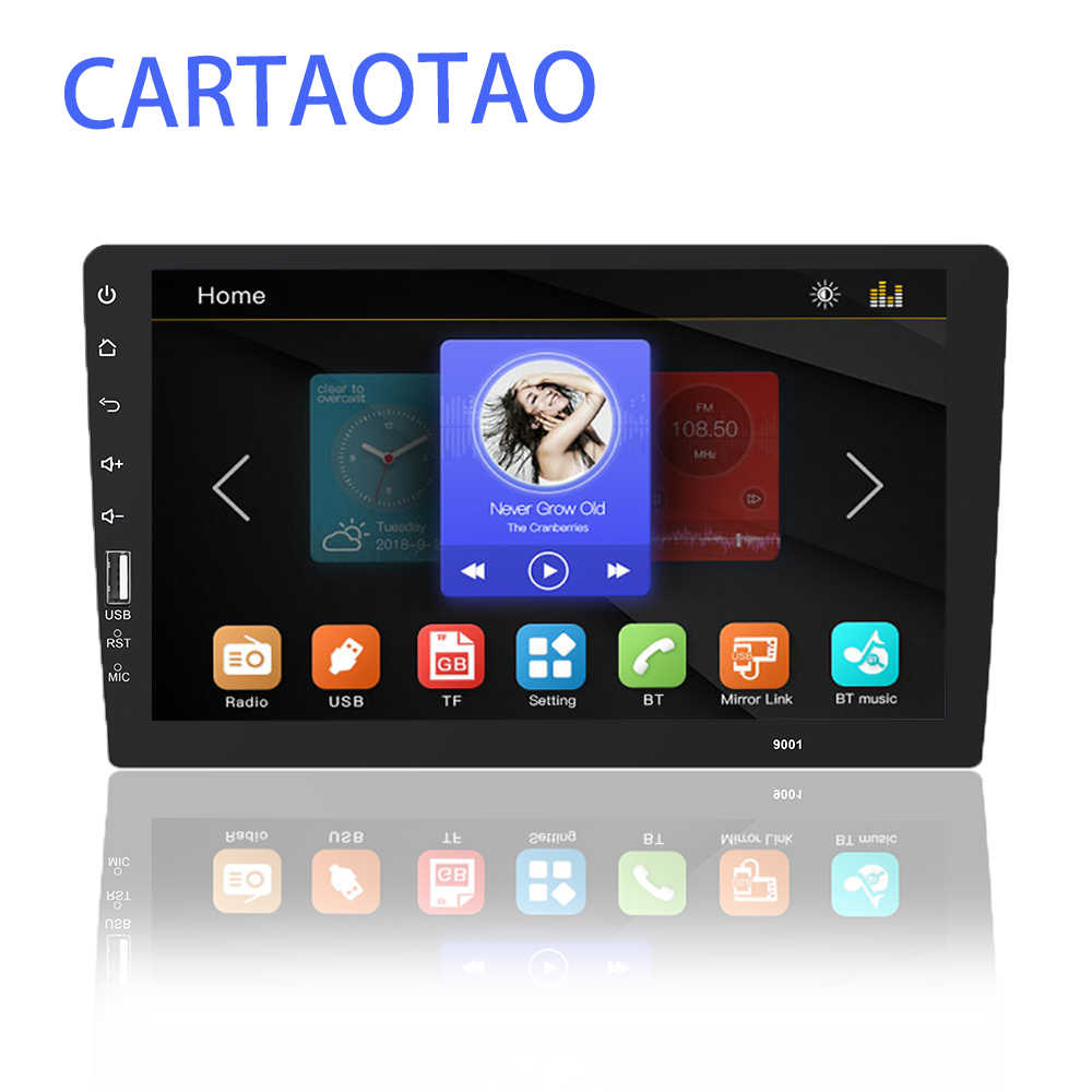 ONE DIN car radio multimedia video player 2DIN universal 9'' touch screen BT MP5 player supports Android phone mirror link
