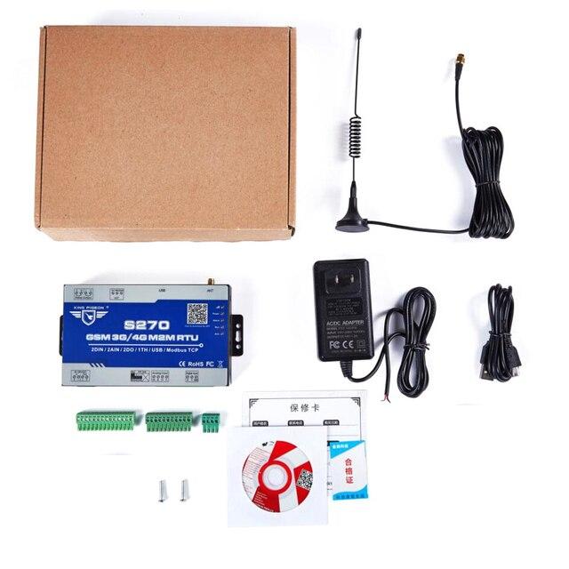 Kit de telemetría inalámbrica Modbus Gateway GSM 3G 4G LTE celular RTU con 2 DIN 2AIN 2DO para control de bombas de agua S270