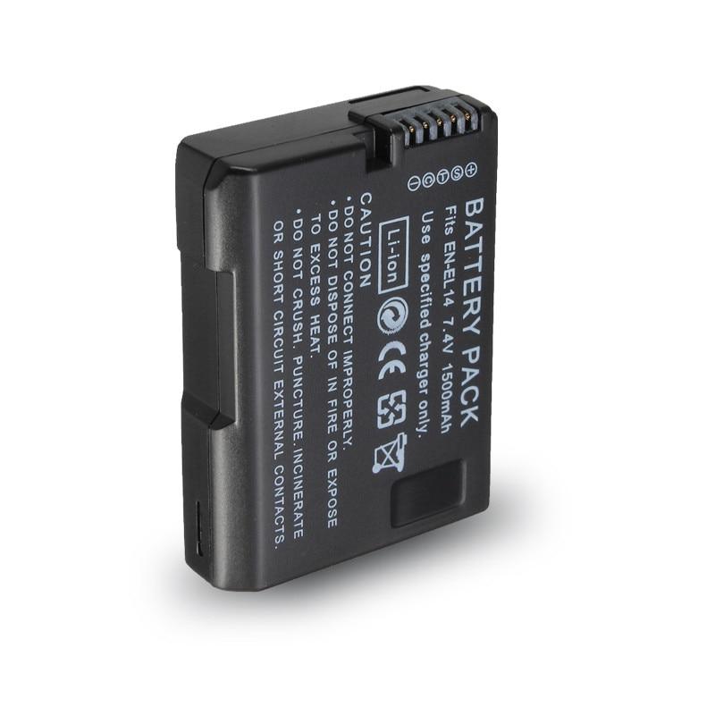 EN-EL14 1500mAh Battery for Nikon DF D90 D300 D5300 D5200 D5100 D3300 D3200 D3100 for COOLPIX P7100 P7200 P7700 P7800 P7000