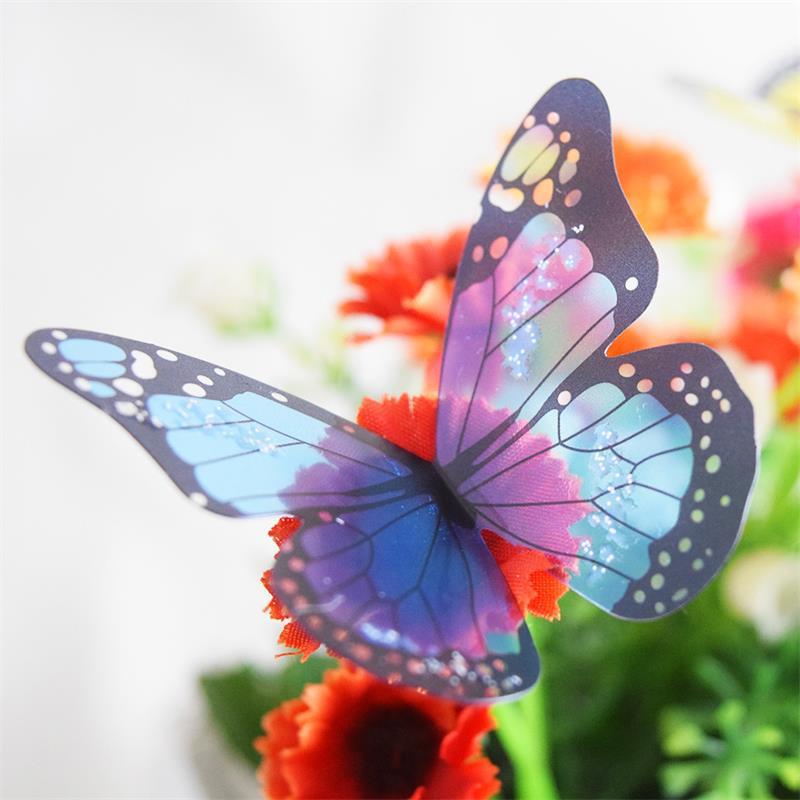 18 Teile/los 3d Kristall Schmetterling Wand Aufkleber Wohnkultur Wohnzimmer Weihnachten Hochzeit Dekorationen Decals Pvc Wandbild Kunst Geschenk