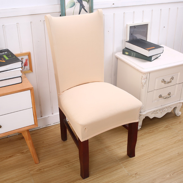 Buy solid color elastic chair cover home for International home decor stores
