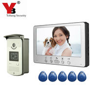 Yobang Security 7″ Door Intercom Phone Video Doorbell System Home Apartment Entry Kit and Video Doorbell Camera Stock Wholesale
