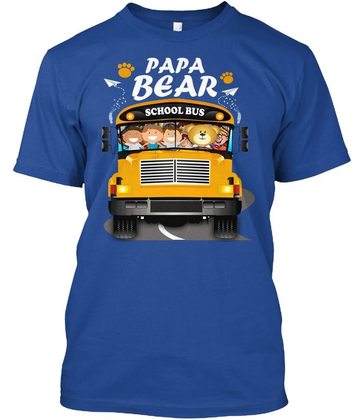 School Bus Driver Papa Bear - Premium Tee T-Shirt