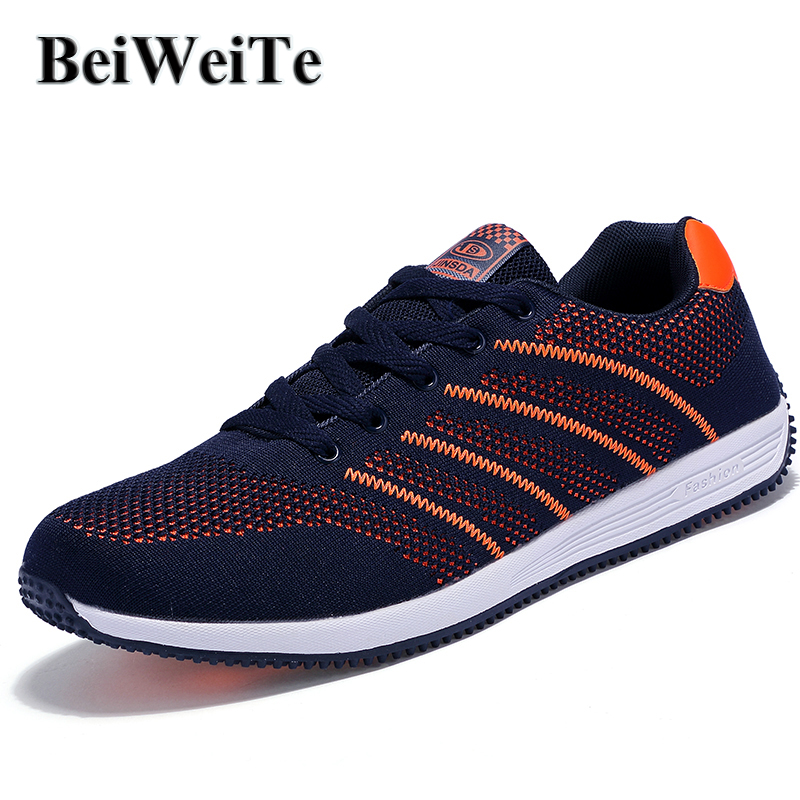 BeiWeiTe Big Size Spring Mens Running Shoes Men Light Sports Breathable Tourism Sneakers Summer Anti-Skid Outdoor Jogging Shoes