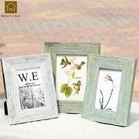 Photo Retro Decorative Poster Wall Frames Pendulum Wood Frame Wedding Vintage Home Decor Fotolijstje Square Photo Frame WKM019