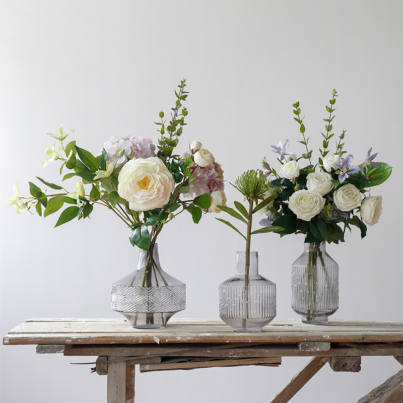 Glass Vase Decoration Home Accessories Living Room Decoration Dining Table Anti-real Flower DecorationGlass Vase Decoration Home Accessories Living Room Decoration Dining Table Anti-real Flower Decoration