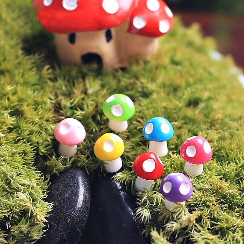 Miniature Mushroom Bonsai Pot Figurine Terrarium Garden Ornament Xmas Gift