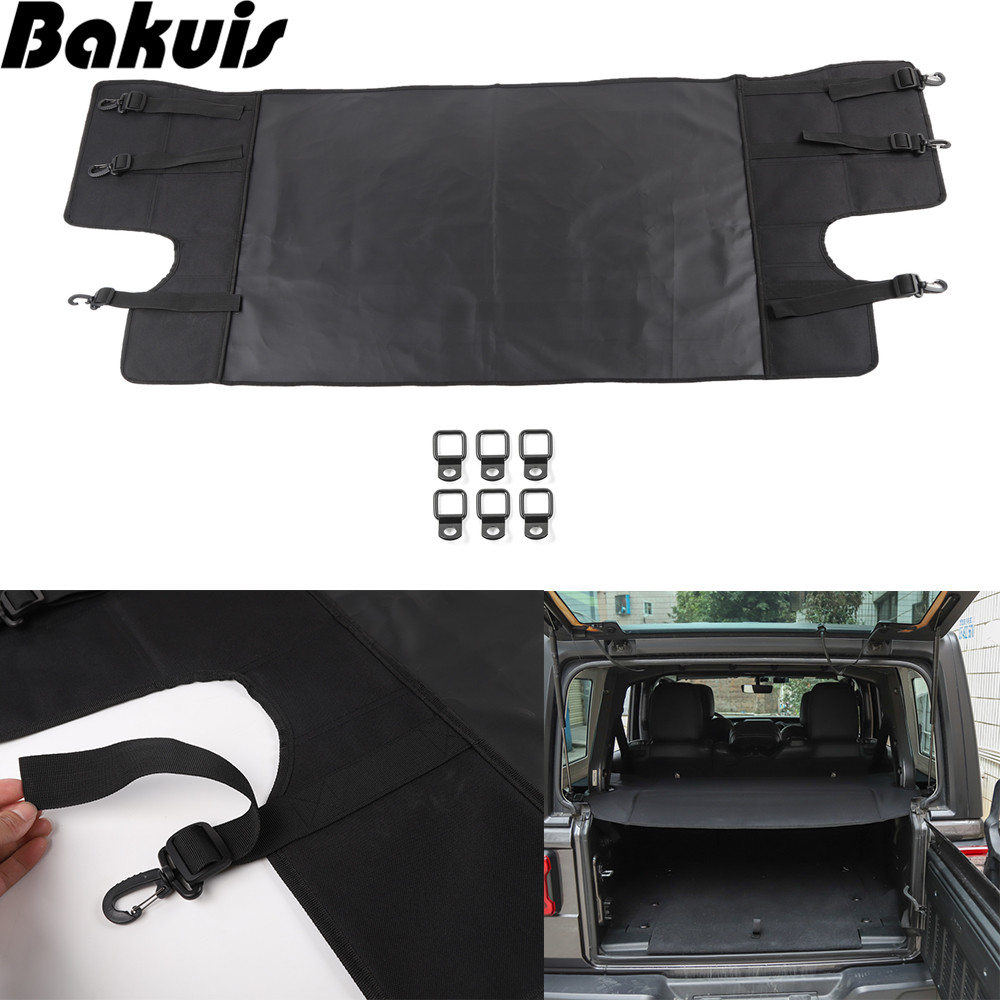 Cargo Cover Shield Pad Rear Trunk Protector Shade Compatible for Jeep Wrangler JL X Unlimited 2007