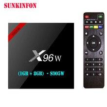 5 Pcs/lot X96W Android 7.1 TV Box Amlogic S905W 1GB 8GB Quad Core WIFI HDMI 4K HD Smart Set Top Box Media Player PK X96 A95X H96