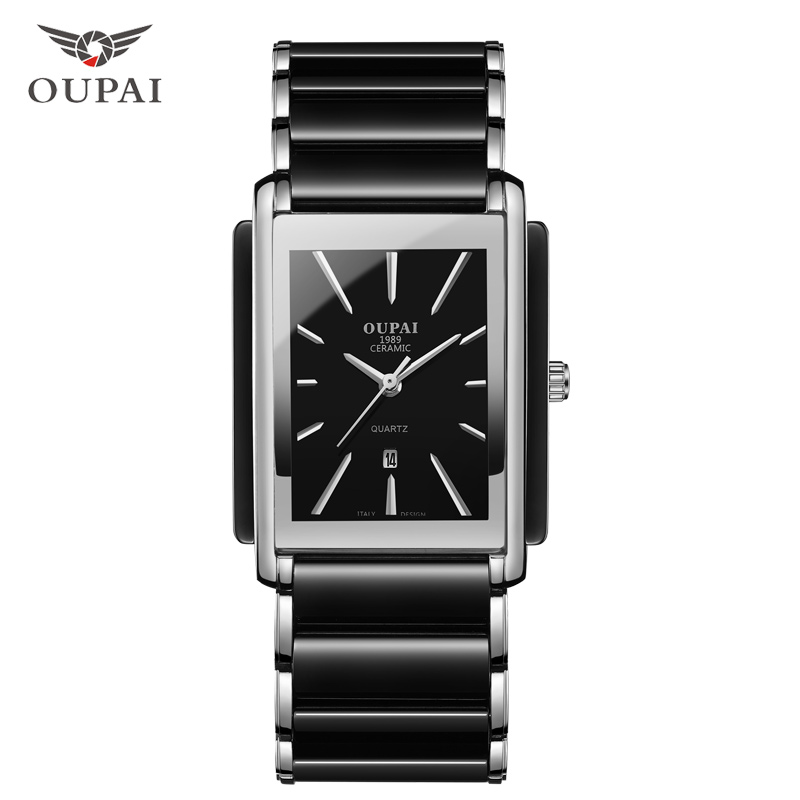 OUPAI NEW Fashion Women Watch Men Top Brand Luxury Wristwatch Man Female Quartz Wrist Watch Ceramic waterproof Watch PENGNATATE new fashion women watch famous brand princess butterfly ceramic band watch cool bussiness wrist watch