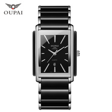 OUPAI NEW Fashion Women Watch Men Top Brand Luxury Wristwatch Man Female Quartz Wrist Watch Ceramic waterproof Watch PENGNATATE