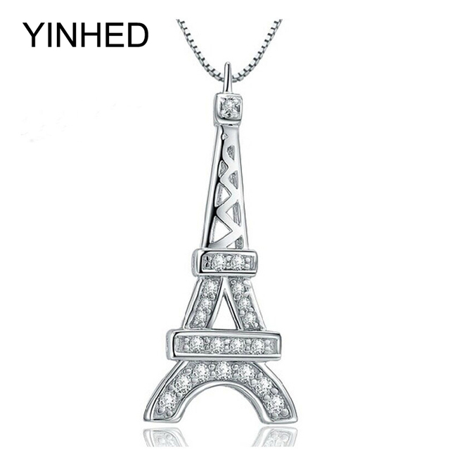Yinhed romantic paris eiffel tower pendant necklace for women yinhed romantic paris eiffel tower pendant necklace for women birthday gift 925 sterling silver fashion jewelry aloadofball Image collections