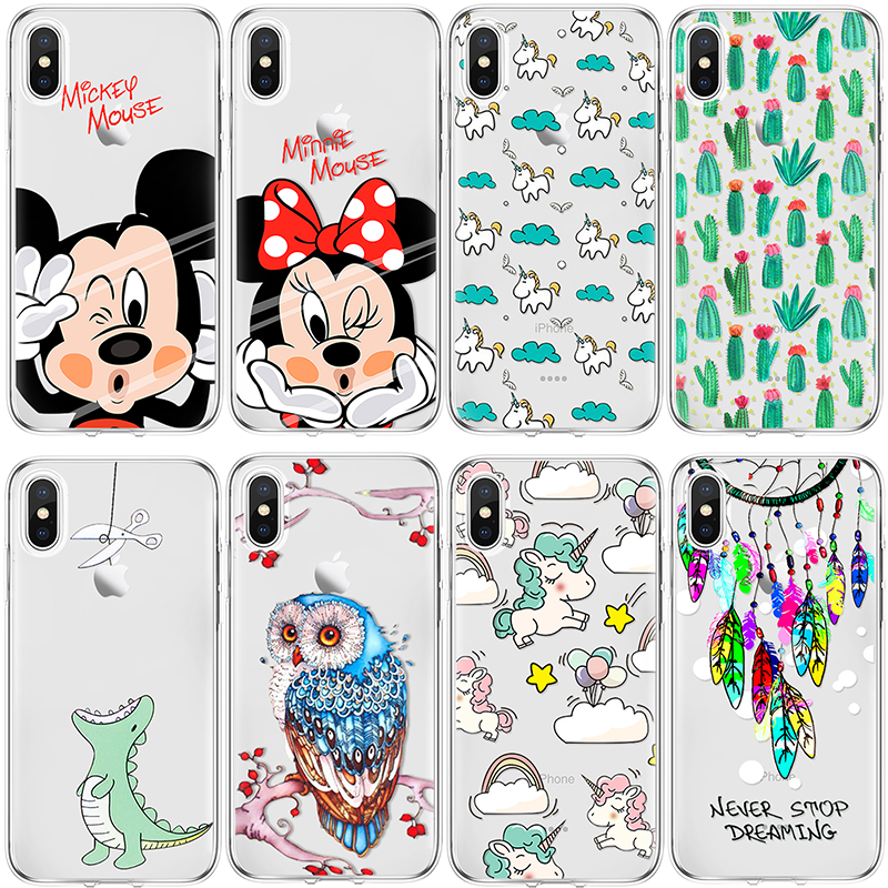 82932a01f49 For Unicorn Fundas iPhone X Xs Max XR 5 SE 6 S 8 7 Plus For Huawei P8 P9  P10 Plus