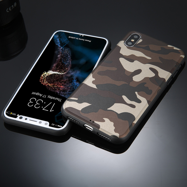 iPhone Army Green Camouflage Back Cover Coque case For iPhone