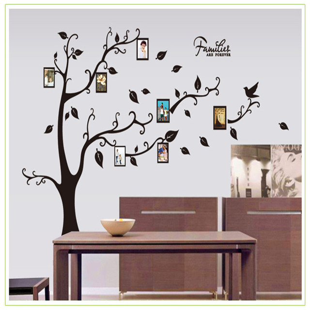abnehmbare black family baum aufklebers fr die wanddekoration 3d bilderrahmen wandtattoos fr wohnzimmer - Wandtattoo Wohnzimmer Baum