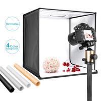 Neewer фотостудия световая коробка 24 дюйма/60 см съемка световой тент Регулируемая яркость складной портативный профессиональный стенд стол