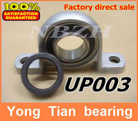 Free Shipping 17 Mm Caliber Zinc Alloy Pillow Block Bearing Housing UP003 Spherical Ball Bearing With