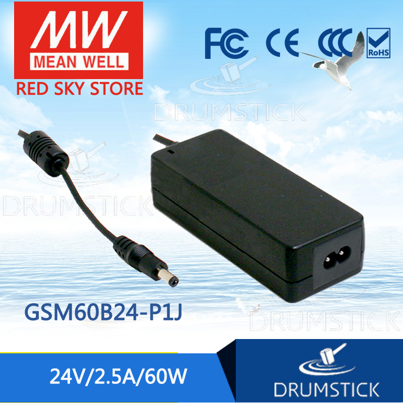 Hot sale MEAN WELL GSM60B24-P1J 24V 2.5A meanwell GSM60B 24V 60W AC-DC High Reliability Medical Adaptor [mean well] original gsm60b05 p1j 5v 6a meanwell gsm60b 5v 30w ac dc high reliability medical adaptor