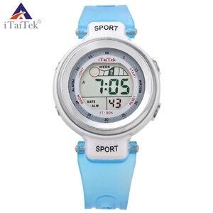 iTaiTek women sport Digital watch 50m Waterproof  7 color wholesale price  Night Vision Watches Multifunction Electronic Watch