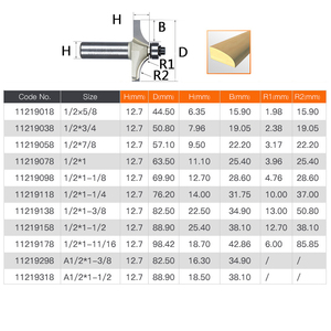 Image 2 - 1/2 Shank Router Bits For Wood Tungsten Carbide Cutter Bit Arden Table Edge Router Bit Prrofessional Grade Woodworking Tools