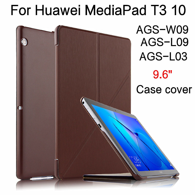 Case For Huawei Mediapad T3 10 AGS-W09 AGS-L09 AGS-L03 Protective Cover PU Leather For Huawei Honor Play Pad 2 9.6