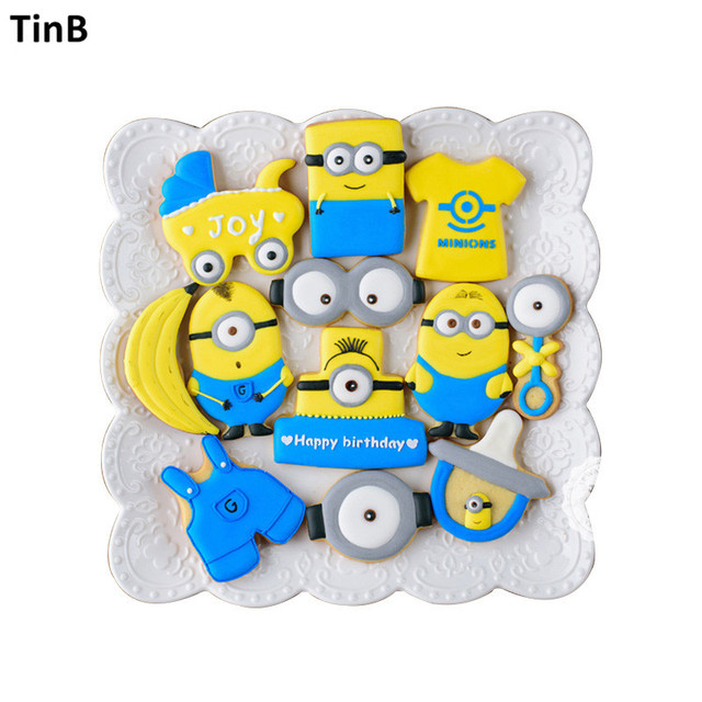 Cute Minions Cake Mould Stainless Steel Fondant Cookie Cutters Cake
