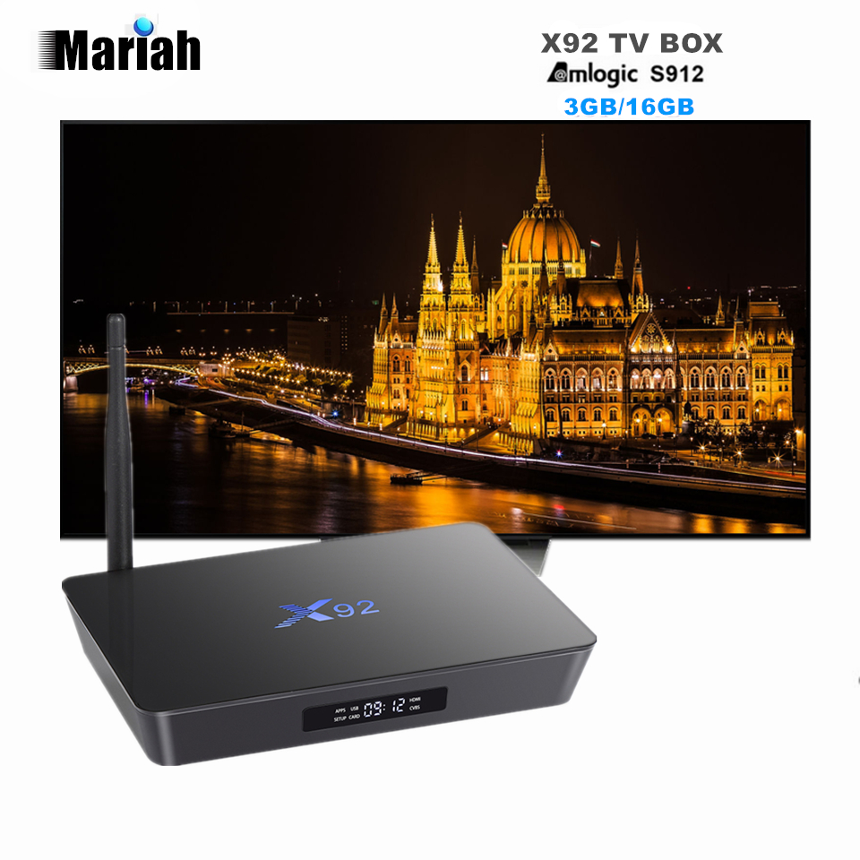 X92 S912 64bits TV BOX Octa Core 3GB+16GB Android 6.0 Marshmallow TV Box X92 Wifi Bluetooth atenna Flixster Miracast консервы monge dog fruit pate and chunkies with duck