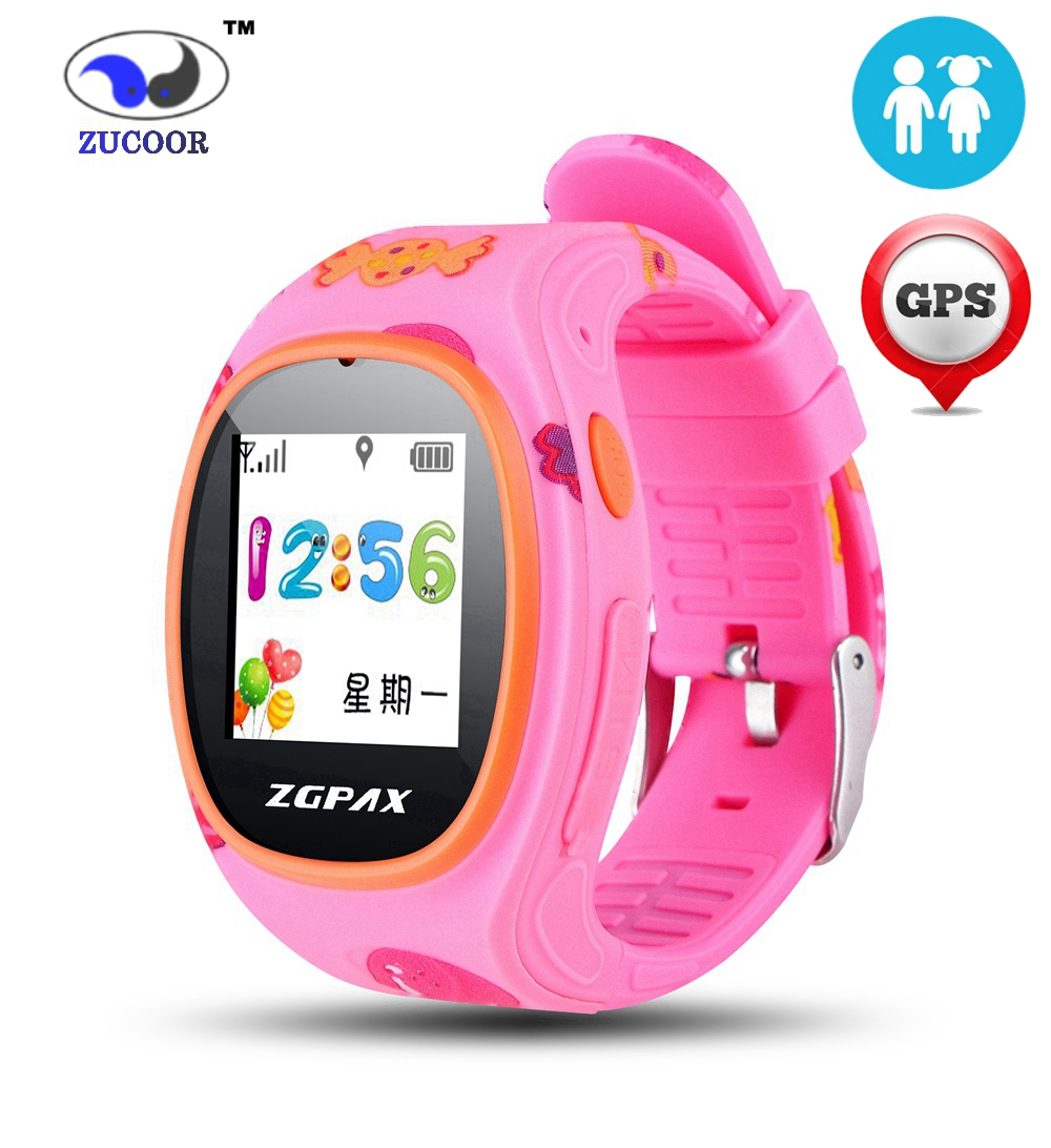 Children font b SmartWatch b font with GPS Tracker Wrist Watch SOS Emergency GSM Smart Mobile
