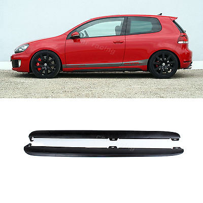 ФОТО PP Unpainted Side Skirts Aprons Body Kit Fit For VW Golf 6 VI MK6 & GTI 2010-2013