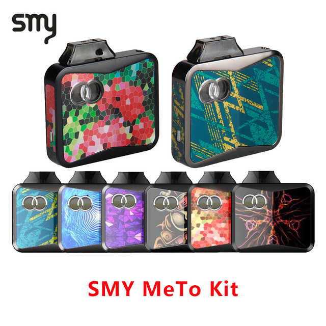 Оригинальный набор Vape Pod SMY METO Starter Vape kit 650 мАч встроенный аккумулятор и 1,5 мл электронная сигарета картридж Vape STAETER Kit