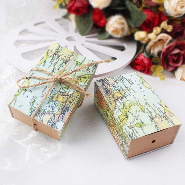 60pcs wedding favor boxes novelty world map candy box for guest 60pcs wedding favor boxes novelty world map candy box for guest wedding favors and gift box gumiabroncs Image collections