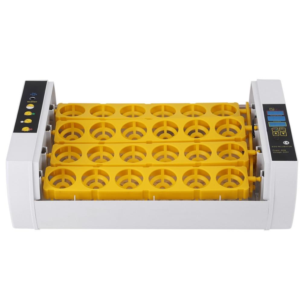 24 卵インキュベーター 60 ワットのデジタル温度制御自動鶏ひよこアヒルハッチャー鶏アヒルガチョウ EU/米国/ AU  グループ上の ホーム&ガーデン からの 給餌 & 給水用品 の中 3