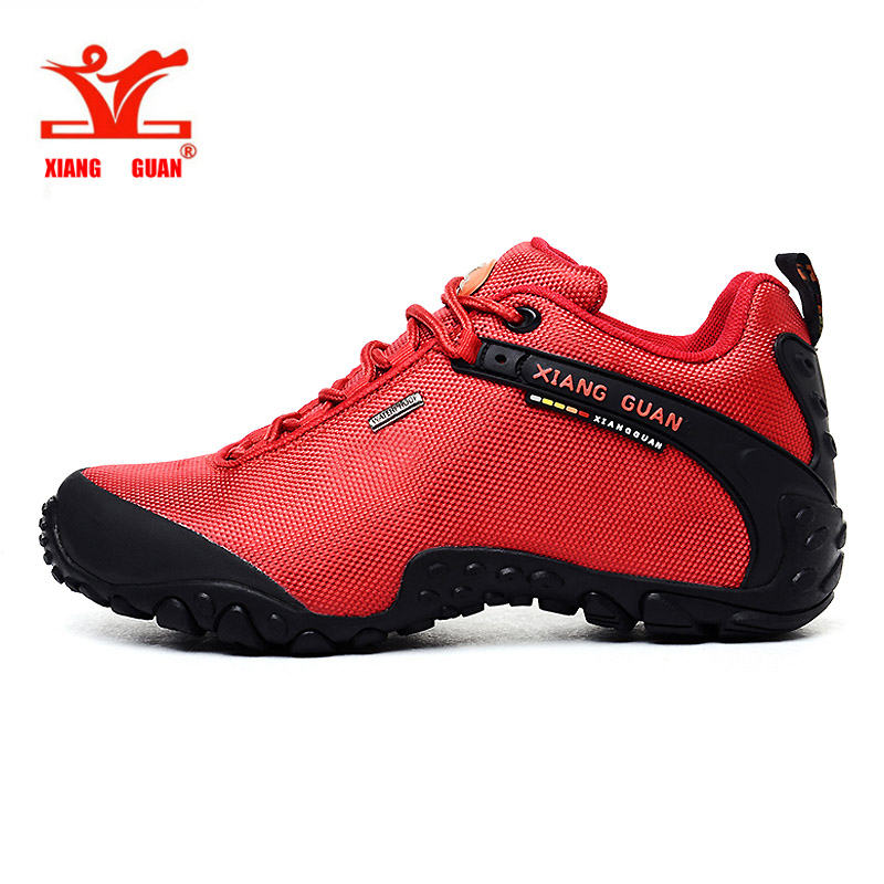 XIANG GUAN Woman Hiking Shoes Athletic Trekking Boots Red Zapatillas Sports Climbing Hike Shoe Outdoor Walking Sneakers 36-39 цена