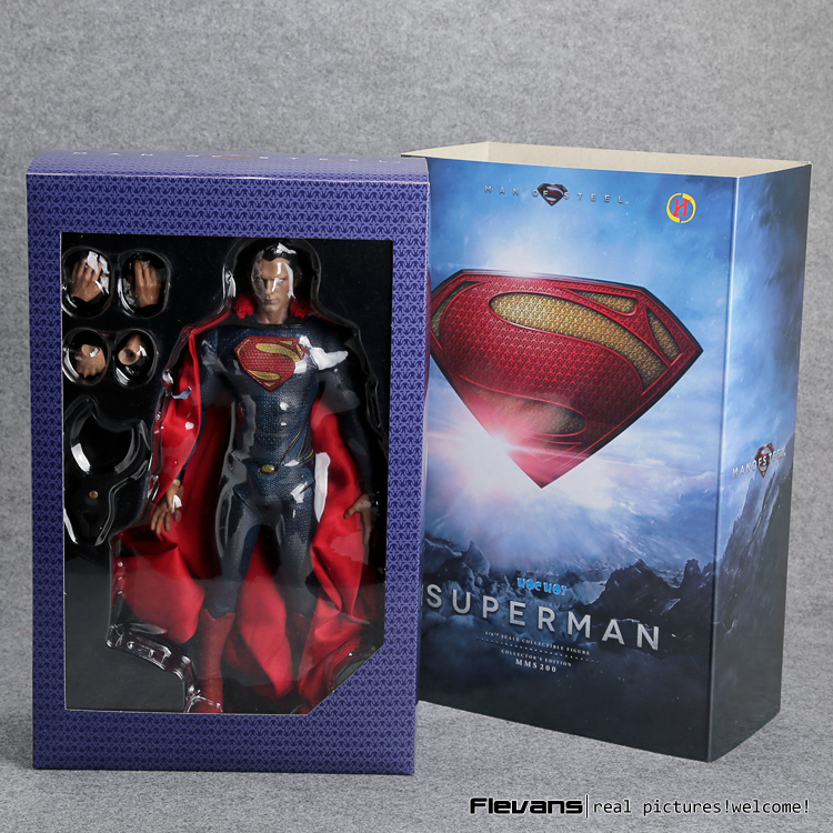 Superman Man of Steel PVC Action Figure Collectible Model Toy 12 30cm HRFG495 shf figuarts superman in justice ver pvc action figure collectible model toy