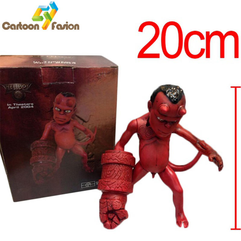 Anime Movie The Golden Army Hellboy 20CM PVC Action Figure Figurine Toy Gift Rare HELLBABY ANIMATED Model toy Brinquedos hellboy giant right hand anung un rama right hand of doom arms hellboy animated cosplay weapon resin collectible model toy w257