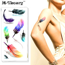 M-Theory 3D Temporary Makeup Tattoos Sticker Angel Feather 3d Flash Tatoos Henna Tatto Body Arts Sticker Swimsuit Makeup Tools