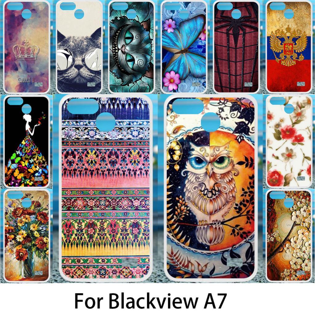 Akabeila мягкий чехол для Blackview A7 A7 Pro кремния случаях DIY рисунком для Blackview A7 Pro Anti-knock Обложка coque
