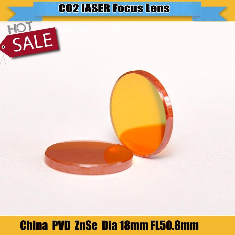 2Pcs CN ZnSe Co2 Laser Focus Lens Diameter 18mm Focal Length 50.8mm For Co2 Laser Engraving Machine