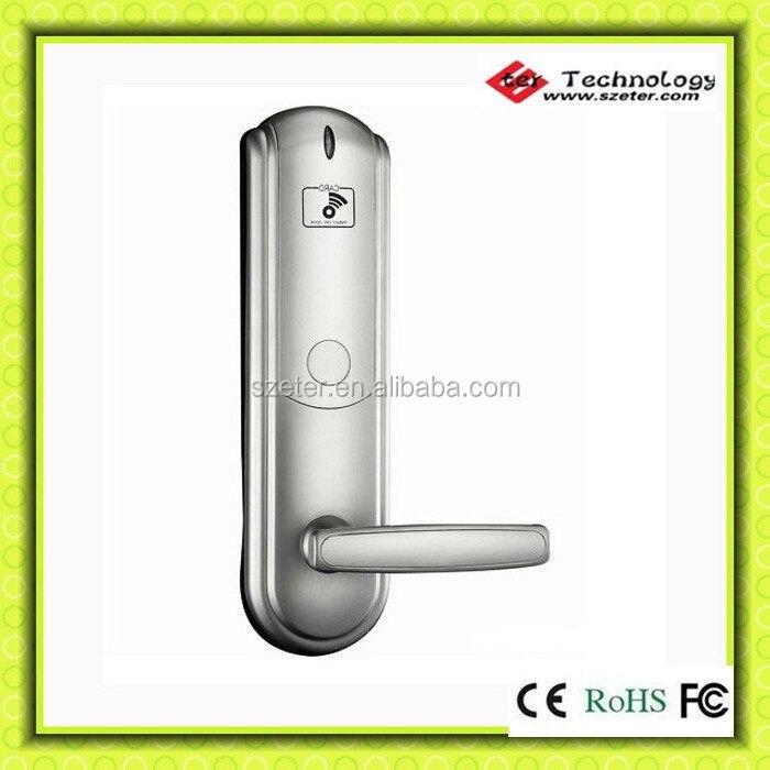 RF hotel card reader door lock with card key   ET831RFS