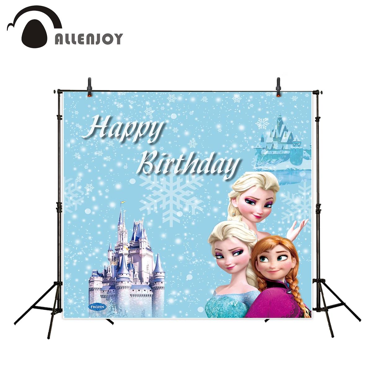 Allenjoy Fotografische Hintergrund Schloss Eis Schnee Prinzessin