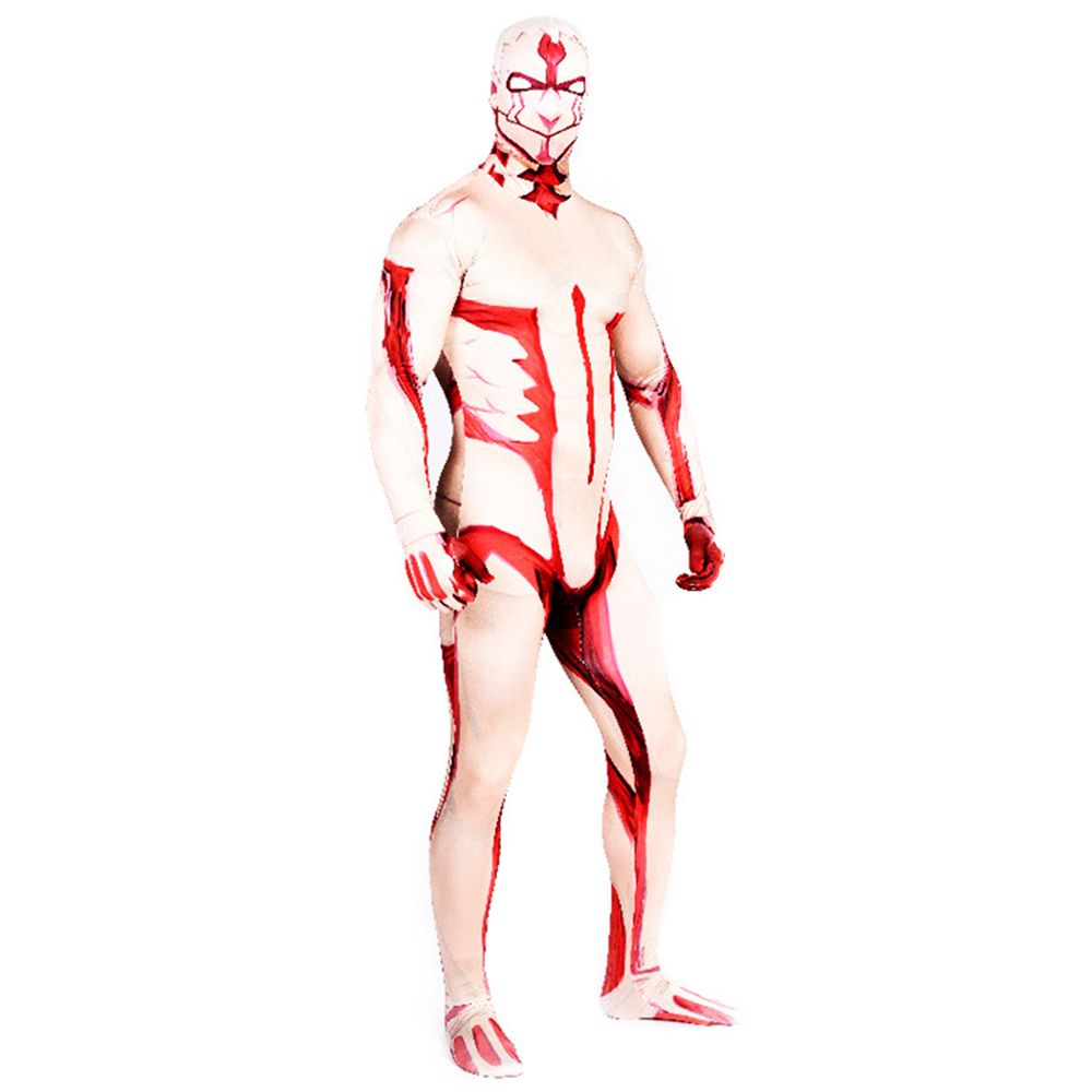Attack on Titan Armored Titan Costumes Halloween 3D Printed bodysuit Zentai Suit Adult mens Arthur Curry Jumpsuits Cosplay