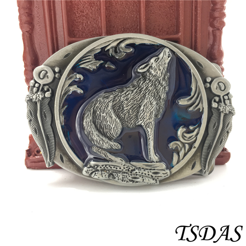 Super Cool 3d Animal Series Wolf Western Cowboy Style Clothing Accessories Belt Buckle Classic