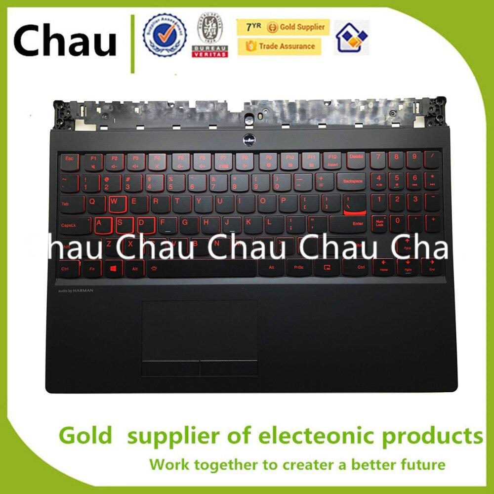 New For Lenovo Legion Y530 Y7000 Upper Case Palmrest keyboard Bezel W BL KB TP
