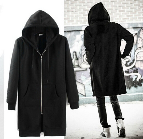 2016 Fashion Men's coat hooded cardigan zipper design long hoodies ...