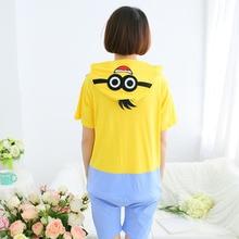 Cute Despicable Me 2 Minions Short Sleeve Pyjamas Sets 100% Cotton