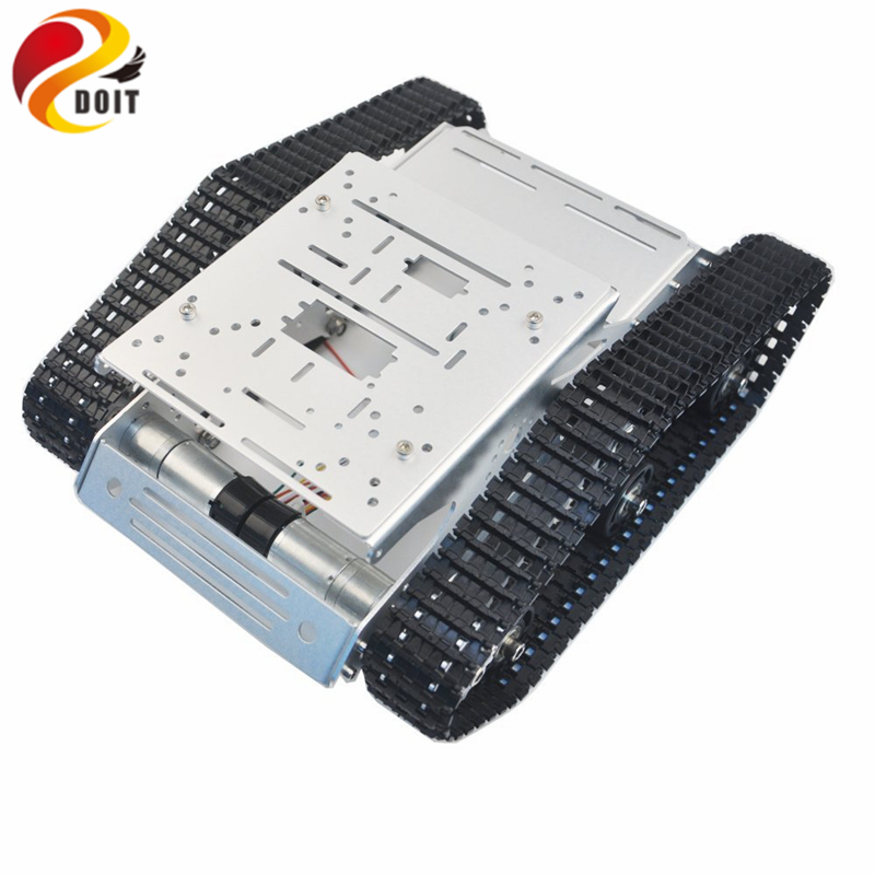 Tracked Robot YP100 with Aluminum Alloy Frame Robotic Arm Interface Holes for Robot Project Graduation Design