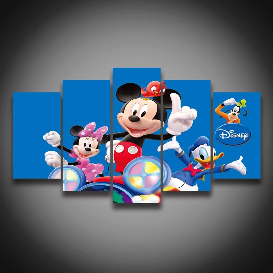 Sin marco Impreso Donald Duck Mickey Mouse de la Historieta animal ...