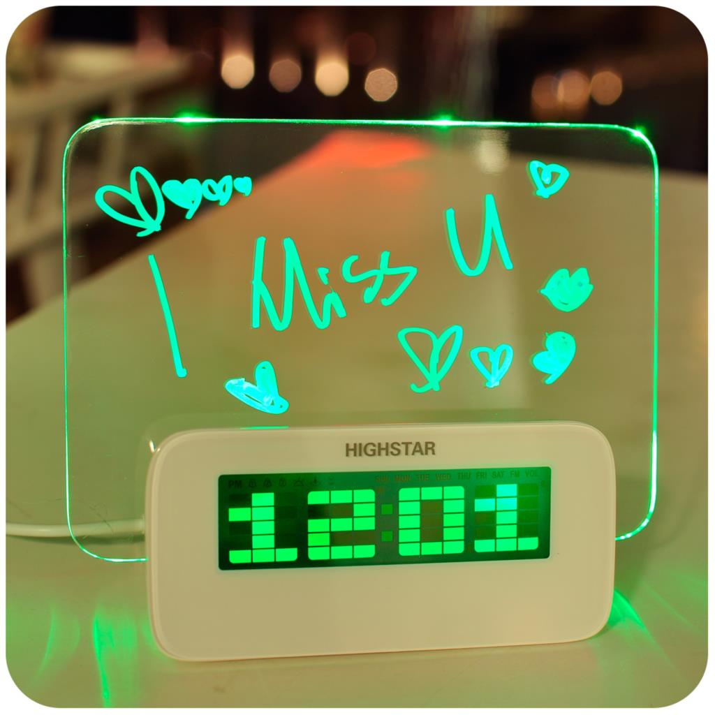 Digital Clock For Sale Hot Sale 3 Colors Fluorescent ② Message Message Board